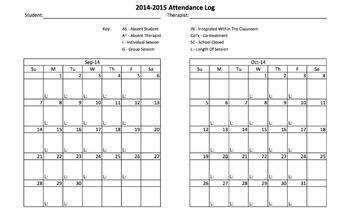 SLP Attendance Log & Notes Template