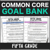Speech Therapy Common Core Fifth Grade Goal Bank Bundle