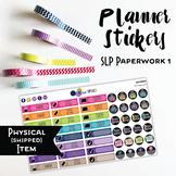 SLP Paperwork Planner Stickers - Solid Brights {HARD GOOD}