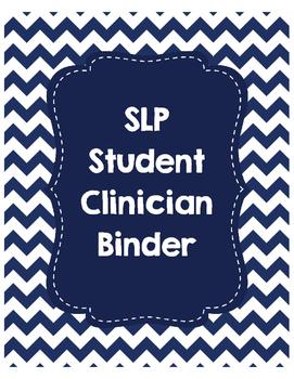SLP Student Clinician Binder-Navy