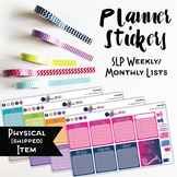 SLP Weekly / Monthly To Do List Planner Stickers - Solid B