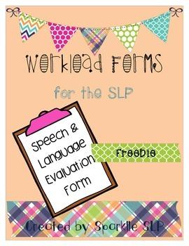 SLP Workload Forms FREEBIE Evaluation Form