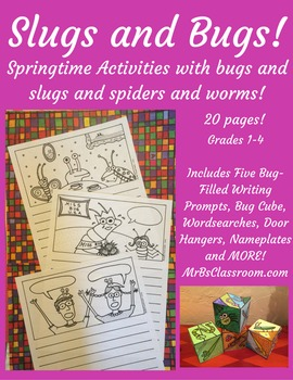 SLUGS & BUGS!! Springtime Activity Pack 1-3 For Insect Stu