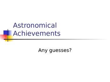 SLesson 13 Astronomical Achievements