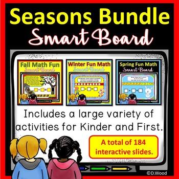 SMART BOARD MATH SEASONS BUNDLE:  AUTUMN, WINTER & SPRING
