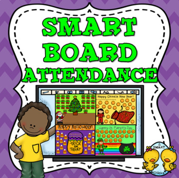 SMART Board Attendance: 16 Fun Holiday Themes in All!