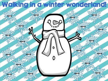 "Interactiv Attendance Flipchart ""Walking in a Winter Wonde"