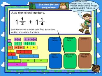 Math Calendar/Calendar Math for SmartBoard Gr 4-5: Day Fil