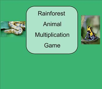 SMART Board: Rain Forest Rescue Game: Basic Multiplication