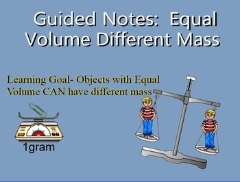 SMART Equal Volume different Mass