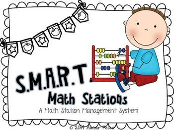 SMART Math Stations - Black & White with Flags