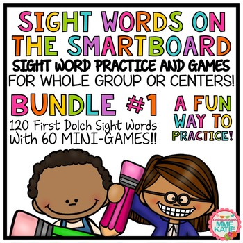 SMARTBOARD Sight Words and Interactive Mini-Games - Bundle