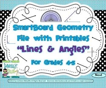 Geometry SMARTBoard and Printables Bundle: Lines and Angles