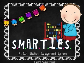 SMARTIES Math Workstations - Bright Multi with Pencils Theme