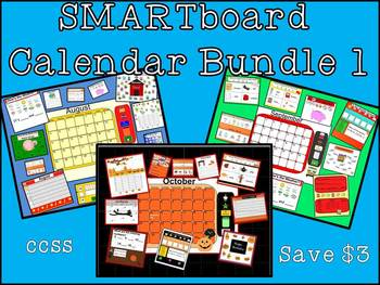 SMARTboard Calendar & Activities Bundle 1 AUGUST SEPTEMBER