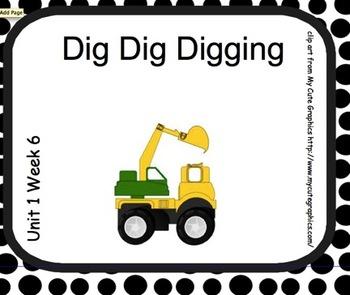 SMARTboard Dig Dig Digging Reading Street Unit 1 Week 6