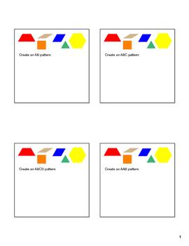 SMARTboard Patterning with Pattern Blocks