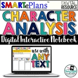 SMARTePlans Digital Character Analysis Interactive Noteboo