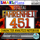 SMARTePlans Digital Fahrenheit 451 Character Analysis Inte