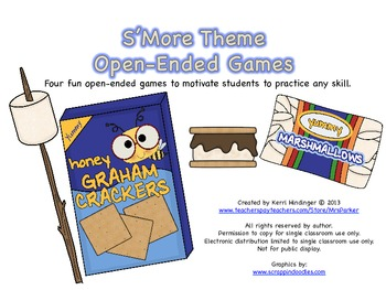 S'More Theme Open-Ended Games