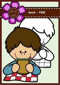 SNACK - FREE Digital Clipart (color and black&white)