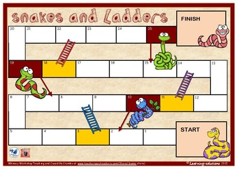 BLANK BOARD GAME - Snakes and Ladders - for Sight Words, N
