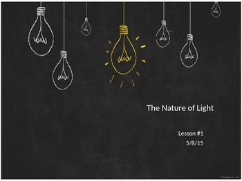 SNC2P - Optics - The Nature of Light