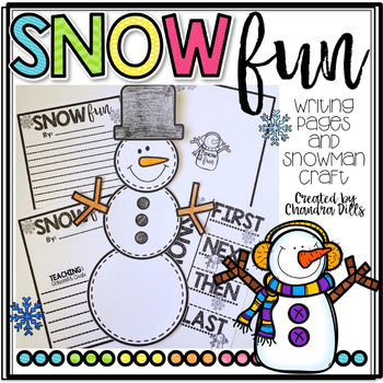 SNOW fun! Snow Day Craft and Writing Prompt!
