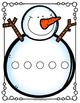 SNOWMAN Counting Hands-On Math Mats 1-25 Low Prep (Pre-K to K)