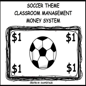 SOCCER THEME REWARDS and CLASSROOM MANAGEMENT BLACK and WHITE SET