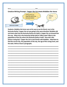 SOCIAL STUDIES WRITING PROMPT: GEOGRAPHY: WOBBLES & COPPER