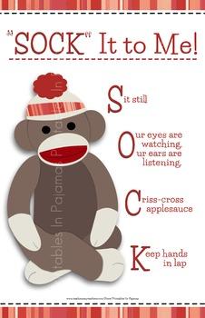 """SOCK"" It To Me Behavior Chart (Sock Monkey Theme)"