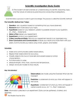 SOL 3.1 Scientific Investigation Study Guide