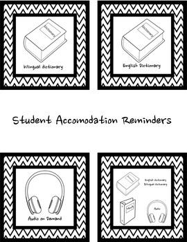 Testing Accomodation Reminders for ELLs