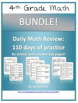 SOL Morning Work by Strand - 4th Grade Math BUNDLE