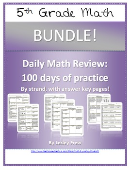 SOL Morning Work by Strand - 5th Grade Math BUNDLE