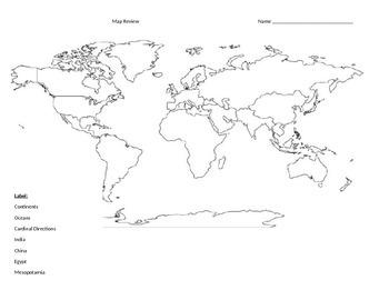 SOL World History I Blank Map Reviews Early , Persia, Indi