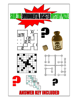 SOLVE THE ENVIRONMENTAL DISASTER MYSTERY PUZZLE  2-PARTS a