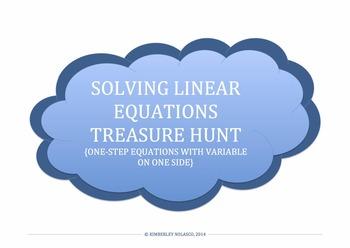 SOLVING LINEAR EQUATIONS TREASURE HUNT