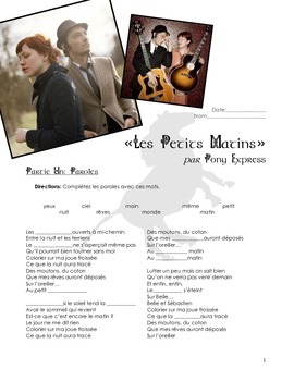 """SONG PACKET: Pony Express """"Petits Matins"""". Practice the Fu"""