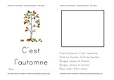 SONG booklet C'est l'automne (Fall is here!) FRENCH