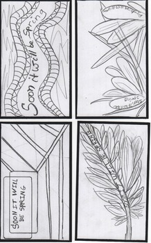 SOON IT WILL BE SPRING - Index Cards for coloring and writ