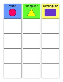 SORTING by Object SHAPE Activity, SPEECH THERAPY, Autism,