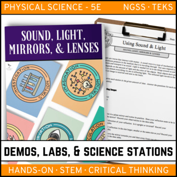 SOUND, LIGHT, MIRRORS, & LENSES - Demo, Labs and Science S