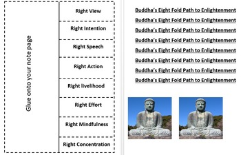 SOl 4d Eight Fold Path to Enlightenment Buddhism Foldable