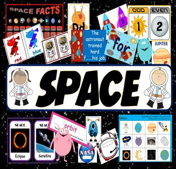 SPACE TOPIC TEACHING RESOURCES and ROLEPLAY SET KS1 EYFS,
