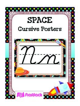 SPACE Themed Cursive Alphabet Posters