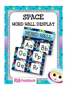SPACE Themed Word Wall Alphabet