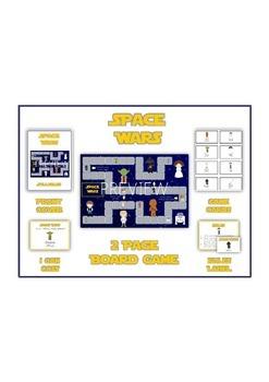 SPACE WARS Vowels- ELA First Grade Folder Game - Word Work Center