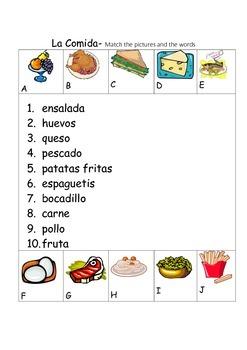 SPANISH - Picture Match - La Comida(2) (Food)